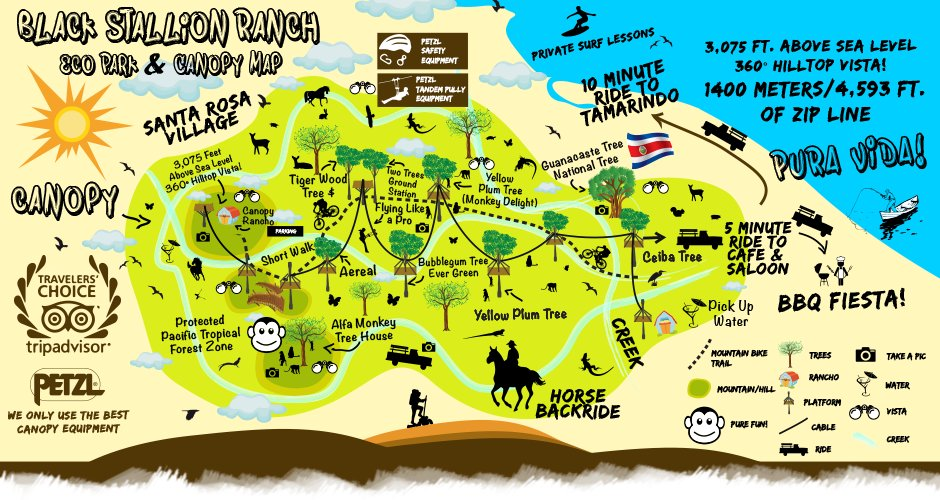 Eco Park & Canopy Map