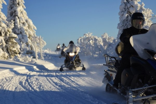 Snowmobile safari
