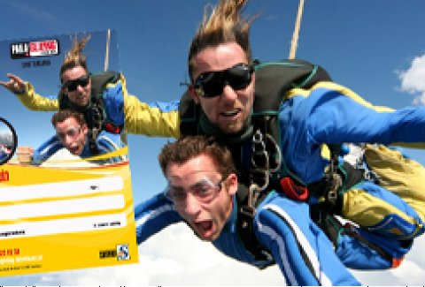 Sky Diving aus dem Flugzeug